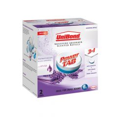 Unibond Small Moisture Absorber Lavender Power Tab Refill Pack of 2 - UNI2008301