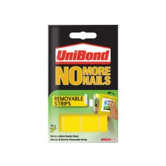 Unibond No More Nails Removable Pads 19mm x 40mm (Pack of 10) - UNI781739