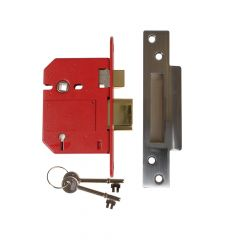 UNION StrongBOLT 2200S BS 5 Lever Mortice Sashlock Satin Chrome 81mm Visi - UNNY2200SC30