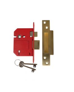 UNION StrongBOLT 2200S BS 5 Lever Mortice Sashlock Satin Brass 81mm Visi - UNNY2200SP30