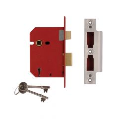 UNION 2201 5 Lever Mortice Sashlock Satin Chrome 77.5mm 3in Visi - UNNY2201SC30