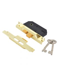 UNION 2242 2 Lever Mortice Rebated Sashlock Electro Brass 65.5mm 2.5in Visi - UNNY2242EB25