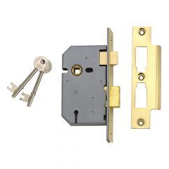 UNION 2277 3 Lever Mortice Sashlock Polished Brass 77.5mm 3in Visi - UNNY2277PL30