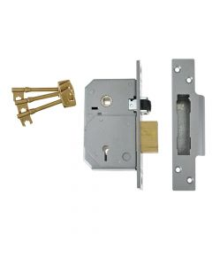 UNION 3K74E C-Series 5 Lever Mortice Rollerbolt Sashlock Brass 80mm - UNNV3K74PL80