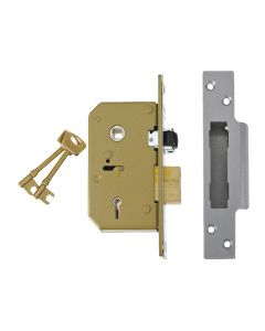 UNION 3K75 C-Series 5 Lever Sashlock Satin Chrome 67mm - UNNV3K75SC67