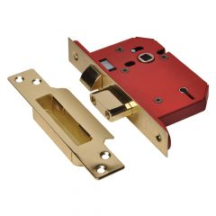 UNION StrongBOLT 2205S 5 Lever Mortice Sashlock Polished Brass 68mm 2.5in Visi - UNNY2205PB25