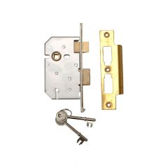 UNION 2277 3 Lever Mortice Sashlock Polished Brass 65mm 2.5in Visi - UNNY2277PL25