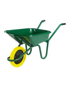 Walsall 90L Green Heavy-Duty Endurance Wheelbarrow - Puncture Proof - WALEGPPDD