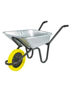 Walsall 90L Galvanised Heavy-Duty Endurance Wheelbarrow - Puncture Proof - WALEGVPPDD