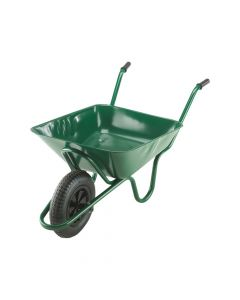 Walsall 85L Green Integral Heavy-Duty Wheelbarrow - WALINGPDD