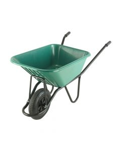 Walsall 120L Green Monarch Polypropylene Wheelbarrow - WALMONPPDD