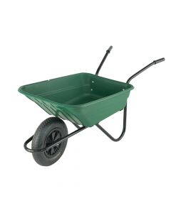 Walsall 90L Green Polypropylene Wheelbarrow - WALSHGP