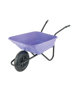 Walsall 90L Lilac Polypropylene Wheelbarrows - WALSHLILP