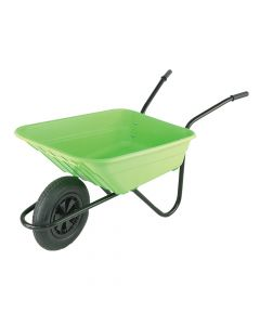 Walsall 90L Lime Polypropylene Wheelbarrows - WALSHLIMP