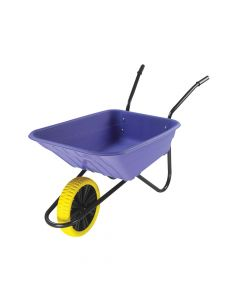 Walsall 90L Lilac Polypropylene Wheelbarrow - Puncture Proof - WALSHLIPPDD