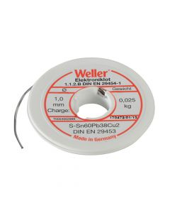 Weller EL60/40-25 Electronic Solder Resin Core 25g - WEL54002999