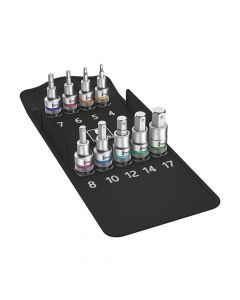 Wera 8740 C HF Zyklop In-Hex Bolt Hold Socket Set of 10 Metric 1/2in Drive - WER004201