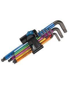 Wera 950 SPKL/9 Hex-Plus Holding Function L-Key Set of 9 Metric (1.5-10mm) - WER022210