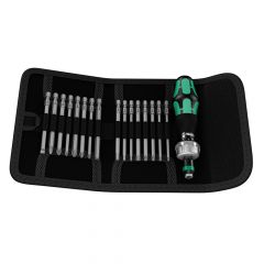 Wera Kraftform Kompakt 60 RA Ratcheting Bit Holder Set of 17 - WER051040
