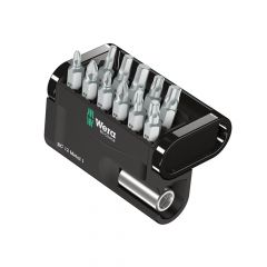 Wera Bit-Check 12 Metal Bit Set of 12 PZ PH TX Hex - WER057424