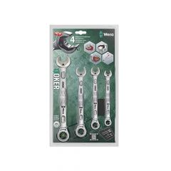 Wera Joker Combi Ratchet Spanner Set 4 Piece Imperial - WER073295