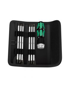 Wera Kraftform Kompakt RA SB Vario Ratchet Bit Holder Set, 7 Piece - WER073665