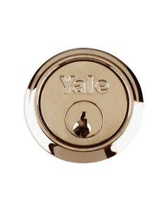 Yale P1109 Replacement Rim Cylinder & 2 Keys Satin Chrome Finish Visi - YALP1109SC