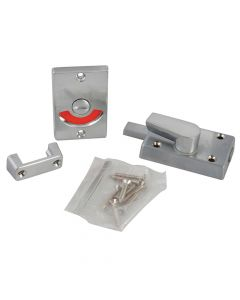 Yale Indicator Bolt for Bathrooms or W.C Doors Satin Chrome P127 - YALP127SC