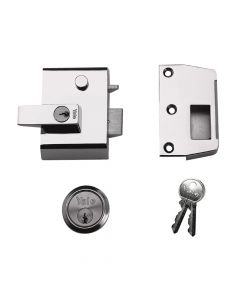 Yale P2 Double Security Nightlatch 40mm Backset DMG/PB Finish Visi - YALP2DMGPB