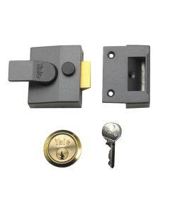 Yale P85 Deadlocking Nightlatch 40mm Backset Brasslux Finish Visi - YALP85BLXPB