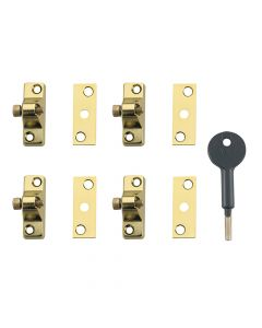 Yale 8K118 Economy Window Lock Electro Brass Finish Pack of 4 Visi - YALV8K1184EB