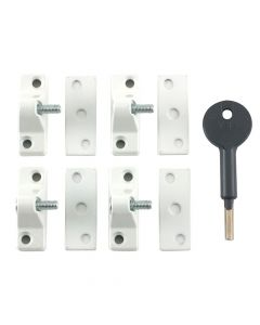 Yale 8K118 Economy Window Lock White Finish Pack of 4 Visi - YALV8K1184WE