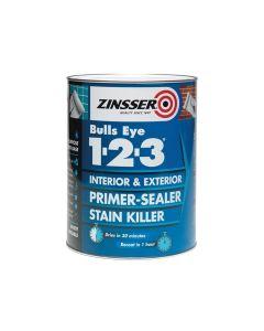 Zinsser 123 Bulls Eye Primer & Sealer Paint 1 Litre - ZINBE1231L