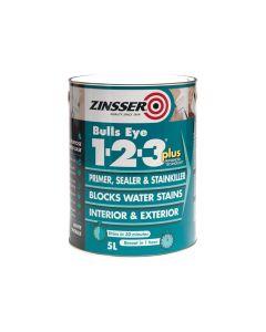 Zinsser 123 Bulls Eye Plus Primer & Sealer Paint 2.5 Litre - ZINBE123P25L