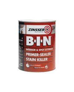 Zinsser B.I.N Primer & Sealer Stain Killer Paint 1 Litre - ZINBIN1L