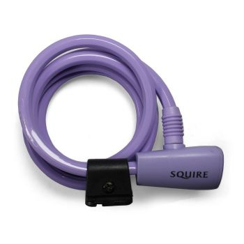 Squire 116 LILAC - Key Operated Cable Lock 10mm x 1800mm - Lilac