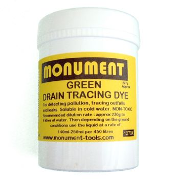 Monument 8oz Fluorescent Green Drain Dye - MON1270X
