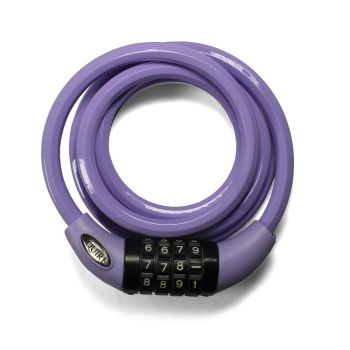Squire Padlocks 216 LILAC - Combination Cable Lock 10mm x 1800mm - Lilac