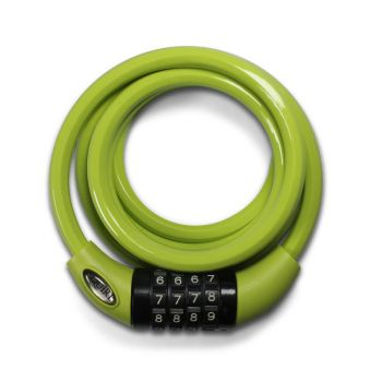 Squire Padlocks 216 LIME GREEN - Combination Cable Lock 10mm x 1800mm - Lime Green