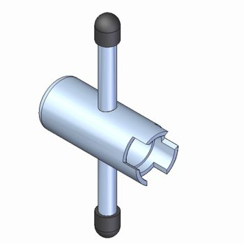 Monument Stubby Wheel Head Key - MON3133U
