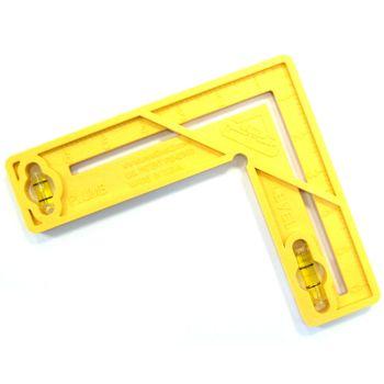 Levelbest 6in.X 6in. 4-In-1 Multi-Tool Level - Plumb - Square - Ruler - MON387V