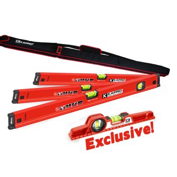 Kapro 787 4 Piece Spirit Level Set - Includes Free Carry Bag And Exclusive Toolbox Level