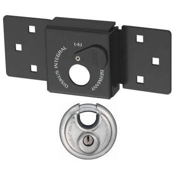 ABUS Van Lock 141/200+26/70 Black With Fixings