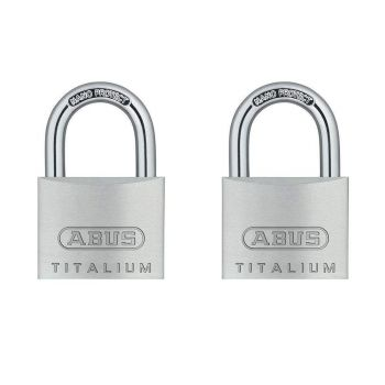 ABUS Titalium 64TI/40 Twin Pack