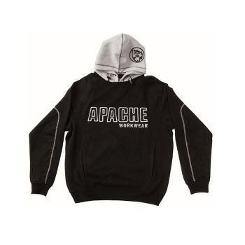 Apache Hooded Sweatshirt Black / Grey - XL (48in) - APAHOODBGXL