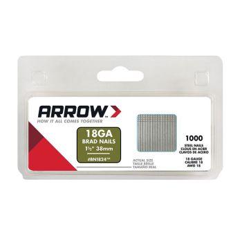 Arrow Brad Nails 38mm (1000 Box) - BN1824
