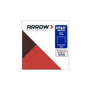 "Arrow HT65 Staples 19mm 3/4"" (600 Box) - 65S"