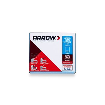 "Arrow T50 Staples Bulk 12mm 1/2"" (Approx 5000 Box) - 508IP"