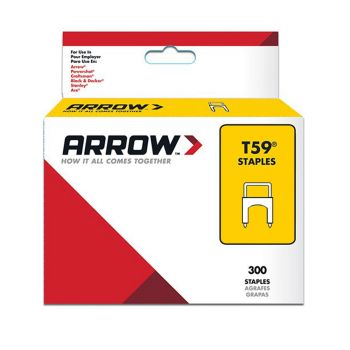 Arrow T59 Clear Insulated Staples 8 x 8mm (300 Box) - 591189