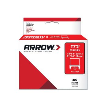 Arrow T72 Clear Insulated Staples 15 x 9mm (300 Box) - 721189